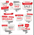 modern sale banners and labels red collection 05 vector image vector image