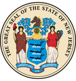 New Jersey Seal vector image vector image