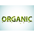 organic word vector image vector image