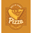 Pizza retro vector image
