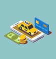 process paying taxi vector image