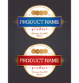 Product Label Design Template vector image