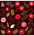 Red Floral Set vector image vector image