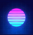 retro futuristic sunset background abstract neon vector image vector image