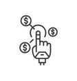 robot hand future finance concept thin vector image