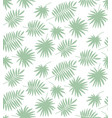 seamless pattern made of palm leaves vector image vector image