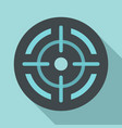 sight icon flat style vector image vector image
