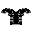 silhouette shoulder pad american football vector image