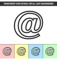 simple outline transparent e-mail icon vector image vector image