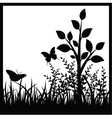 small tree and butterflies vector image vector image