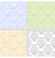 Summer pastel seamless pattern set vector image vector image