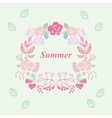summer wreath vector image vector image