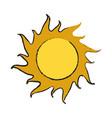 sun isolated symbol vector image
