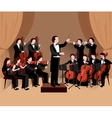 Symphonic Orchestra Flat vector image vector image