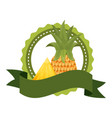 tropical fruits design vector image