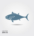 tuna fish flat icon vector image vector image
