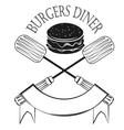 Vintage Style Hamburger Menu Graphics vector image