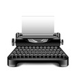 vintage typewriter isolated on white vector image vector image