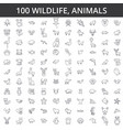 wildlife african sea domestic forest zoo vector image vector image