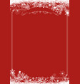 winter snowflake retro border and christmas red vector image vector image