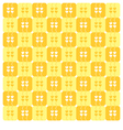 Yellow Hearts Pattern vector image vector image