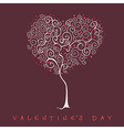 stylized tree valentines day card vector image