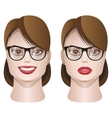 female faces with glasses vector image