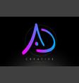 ad artistic brush letter logo handwritten vector image vector image