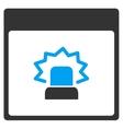Alert Calendar Page Toolbar Icon vector image vector image