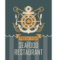anchor and seafood restaurant vector image vector image
