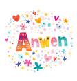 anwen girls name vector image vector image