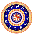 astrological wheel vector image vector image