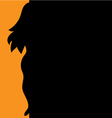 background silhouette of a girl vector image