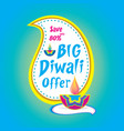 big diwali offer banner design vector image vector image