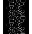 Blackboard chalk mind map vertical seamless vector image