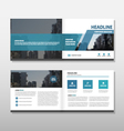 Blue abstact annual report Leaflet Brochure Flyer vector image vector image