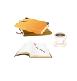 Books and a coffee cup vector image