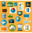 Business finance and bank flat icons vector image vector image