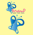 butterfly woman logo vector image vector image