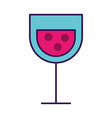 cartoon glass wine vector image vector image