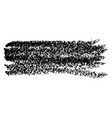 chalk brush grunge element with chalk texture vector image vector image