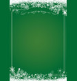 christmas gradient green with retro border and vector image vector image