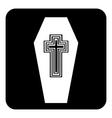 Coffin button vector image vector image