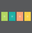 collection set of simple minimal covers business vector image vector image