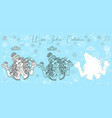 doodle set with libra zodiac symbol girl vector image