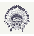 dotwork skull art vector image