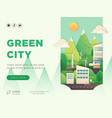 eco city landing page layout vector image