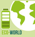 eco world planet battery energy alternative vector image