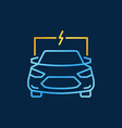 electric auto or car bright outline icon or vector image vector image
