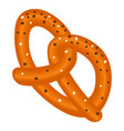 german pretzel icon isometric style vector image vector image